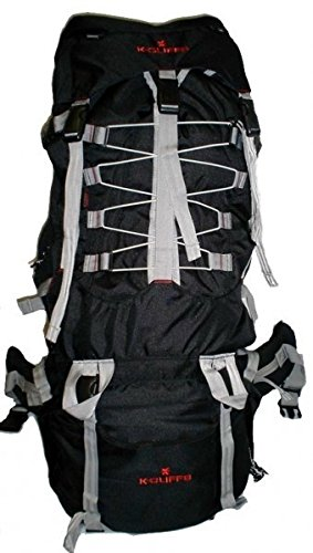 Harvest 7000 Cubic Inch Internal Frame Hiking Backpack, Black