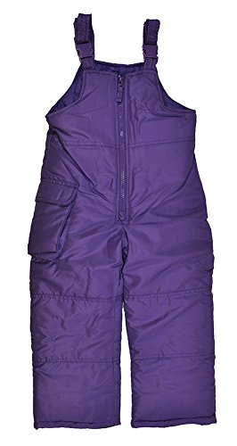 [London Fog Little Girls Purple Snow Bib/Pant (3T)] (Bt Kids Overalls)