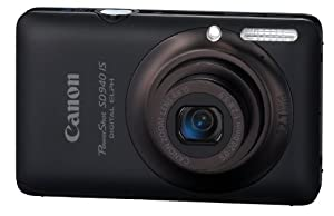 Canon PowerShot SD940IS 12.1MP Digital Camera with 4x Wide Angle Optical Image Stabilized Zoom and 2.7-inch LCD (Black)