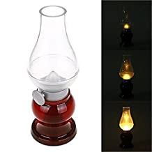 ALED LIGHT® Dimmable Acrylic ABS Blowing Control Lamp - USB Rechargeable Cordless Wireless LED Night Light Candle Lamp, Creative Innovative Kerosene Oil Lamp Design with Dimmer Control Key, for Indoor & Outdoor Use, Nightlight, Reading Lights, Romantic Dinner, Outdoor Camping, Fishing, Decoration, etc