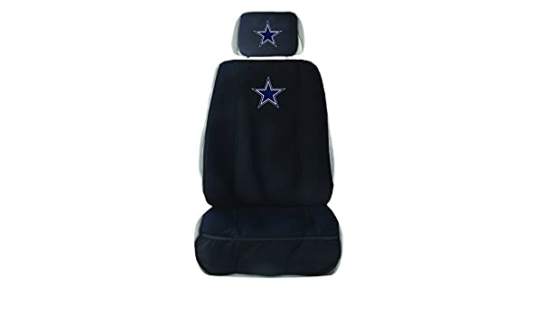 Amazing Nfl Dallas Cowboys Seat Cover With Head Rest Cover Black Alphanode Cool Chair Designs And Ideas Alphanodeonline