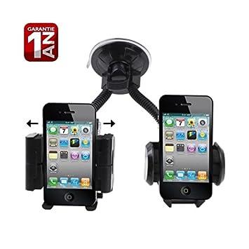 Desconocido Doble Soporte para Coche Universal para iPhone/PDA/GPS/MP4: Amazon.es: Electrónica