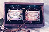 Huckleberry Rasy-Huck Jam 5oz ea Gift-Set Fresh Real Wild Montana Grown fr Bounty Foods Natural Fresh Real Fruits & Herbs Gluten-Free Non-GMO Toppings Dessert Fillings (HbryRsy-Hck, 5oz ea GS)