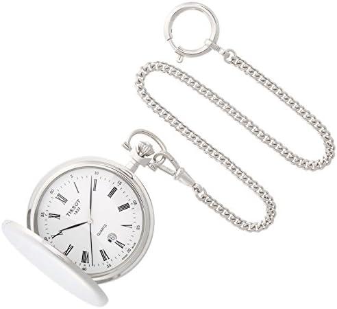 [ティソ] 懐中時計 サボネット クオーツ ホワイト文字盤 チェーン付き T83655313 ユニセックス 正規輸入品