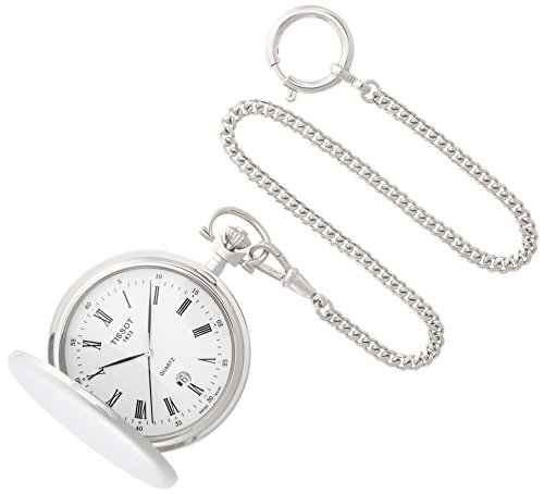 Tissot Savonnettes Stainless Steel Pocket Watch T83655313 by Tissot