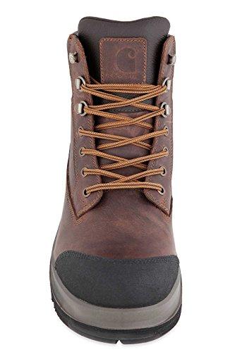 Carhartt, Detroit Ruw Flex S3 Beschermende Laarzen, Kleur: Donkerbruin, Grootte: 43 Donkerbruin