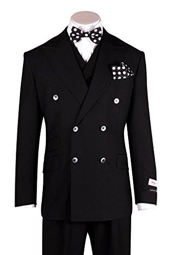 Pure Wool Suit - Tiglio Rosso EST Black Wide Leg, Pure Wool Suit & Vest TIG1001