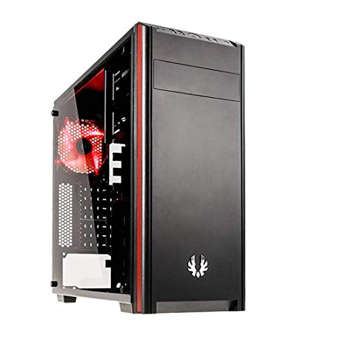 BitFenix Nova TG Black, Gaming Case, ATX/mATX/Mini ITX Mid Tower Case - Tempered Glass Window, -BFX-NTG-100-KKWSK-RP