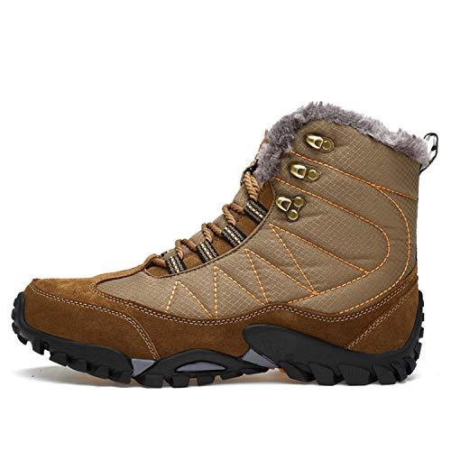 Trekking Haut Rond Bottes Chaud Hiver Femme Tqgold Sneakers Homme Outdoor Kaki Boots Bas De Neige Plate Randonnée Fourrure Chaussures vxfnBvq