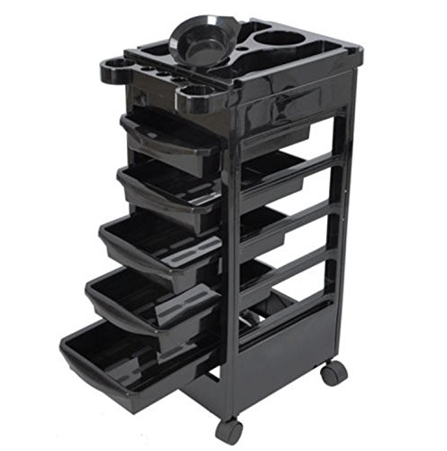 32″ Beauty Salon Spa Styling Station Trolley Equipment Rolling Storage Tray Cart