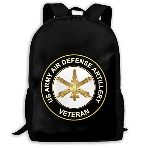 Mucup US Army Veteran Air Defense Artillery Funny School Bookbag Novelty Outdoor Travel Rucksack College Backpack