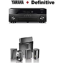 Yamaha AVENTAGE RX-A680 7.2-ch 4K Ultra HD AV Receiver with HDR + Definitive Technology Pro Cinema 800 System Black Bundle