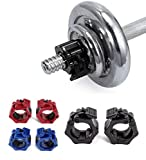 Olympic Barbell Clamps, Quick Release Non-Slip