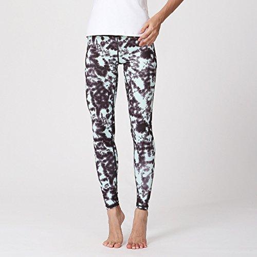 JIALELE Yogahose Stempel Yoga Hose_Stamp Yoga Hose Atmungsaktive Sport Hose Dance Yoga Enge Hosen Hosen Für Frauen