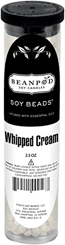 Beanpod Candles, Soy Beads, Whipped Cream, 2.3-ounce Tube, (Pack of (Soy Whipped)