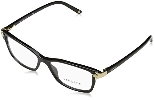 Versace Women's VE3156 Eyeglasses Black - Versace Women Eyeglasses For