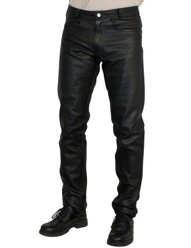 58 Roleff Pantal/ón de Cuero Racewear Negro
