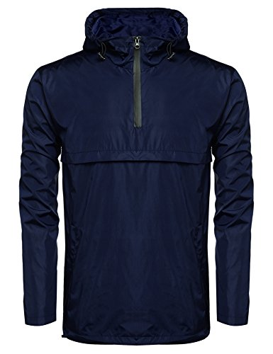 Navy Pullover Windbreaker - 6