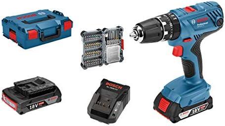 Bosch Professional - Taladro percutor a batería GSB 18V-21 (2 baterías de  2 b42a14113f3a