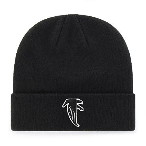 OTS NFL Atlanta Falcons Legacy Raised Cuff Knit Cap, One Size, Black