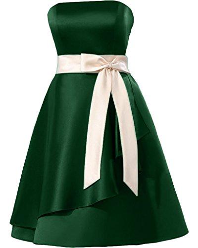 Missdressy - Traje de vestir - plisado - para mujer Dunkelgruen 46