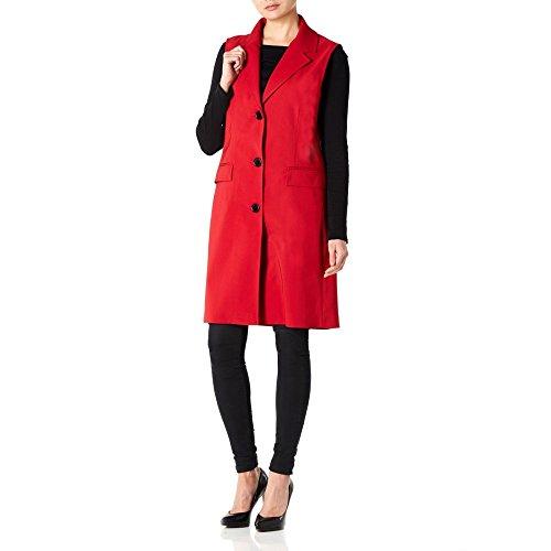 Primavera Waistcoat Creme Mujer 14 Chaleco Larga De Rojo Talla La 4Yq57I