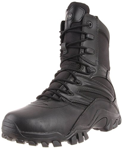 Bates Mens Delta Side Zip 8 Inch Uniform Boot  Black  13 M Us