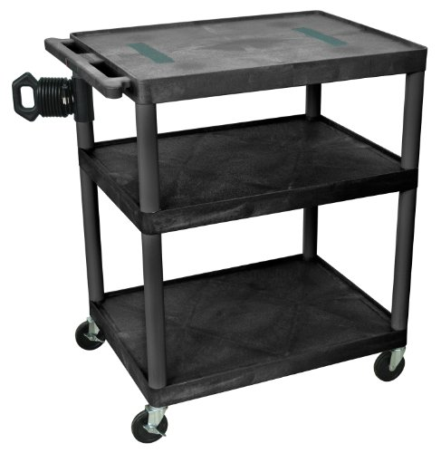 LUXOR LE40-B Audio Video Utility Cart, 3 Shelf (Lcd Universal Luxor)