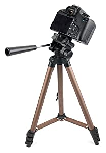 Camera Tripod with Extendable Legs and Ball-Tilt Head in Black & Gold - Compatible with the PowerLead Puto PDL003 Mini - by DURAGADGET