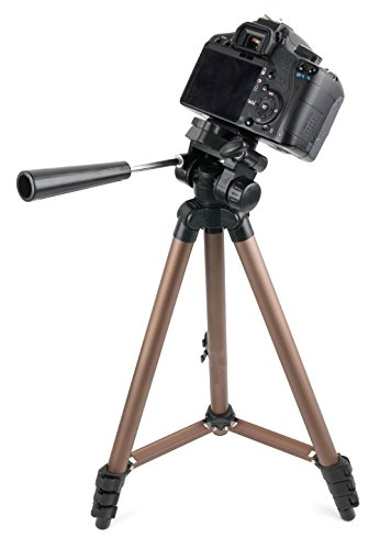 DURAGADGET Camera Tripod with Extendable Legs and Ball-Tilt Head in Black & Gold - Compatible with the Eyeskey 12X50 High Power Monocular Telescope by DURAGADGET