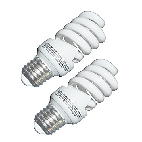 13 Watt CFL Light Bulbs (60 Watt) Soft White 2700K 1040LM Spiral Bulb Medium Base Compact Fluorescent Bulb (2 Pack) -