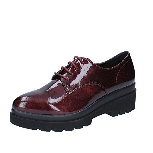Francesco Milano Zapatos de Cordones de Charol Para Mujer Morado Rojo Lovely eab1b6af011f
