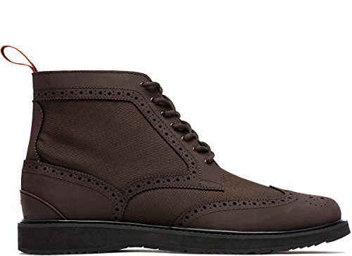 Swims Men's Barry Brogue Boot (Brown/Black, 11) by SWIMS