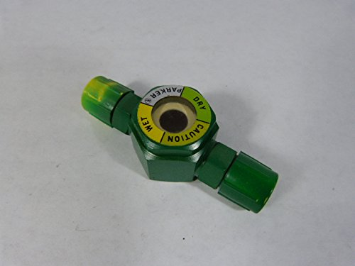 3.82 Length Parker Hannifin PSG4 Sight Glass Moisture Indicator 1//2 SAE Male Flare x 1//2 SAE Male Flare Fitting