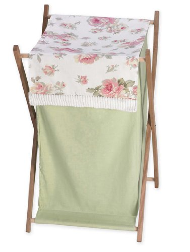 Sweet Jojo Designs Baby and Kids Clothes Laundry Hamper for for Riley's Roses Bedding Rose Hamper