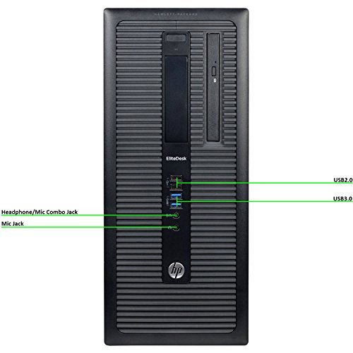 HP EliteDesk 800 G1 Tower Premium Business Computer PC (Intel Core i5-4570 upto 3.6GHz, 8GB Ram, 1TB HDD, 3.0 USB, Wireless WIFI, Display Port) Windows 10 Professional (Renewed)