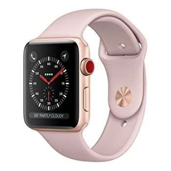 797293eb37a Amazon.com  Apple Smart Watch 38mm Watch Series 3 - GPS - Space Gray ...