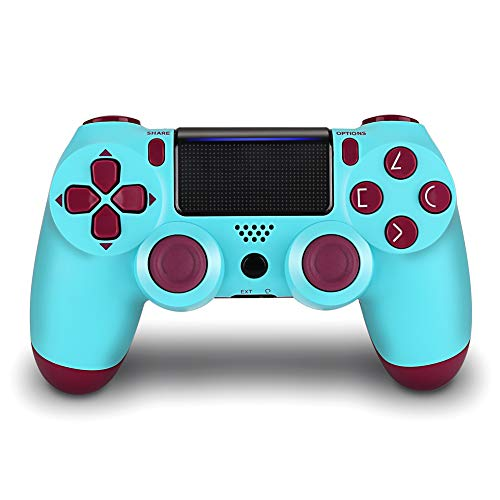 PS4 Controller,DualShock 4 Wireless Controller Remote for Playstation 4,Berry Blue/Transparent White (New Model) 410B6p4XdyL  Home Page 410B6p4XdyL