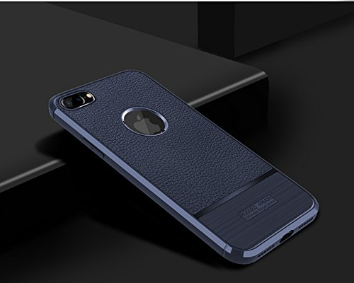Funda iPhone8 Plus,Funda Fibra de carbono Alta Calidad Anti-Rasguño y Resistente Huellas Dactilares Totalmente Protectora Caso de Cuero Cover Case Adecuado para el iPhone8 Plus C