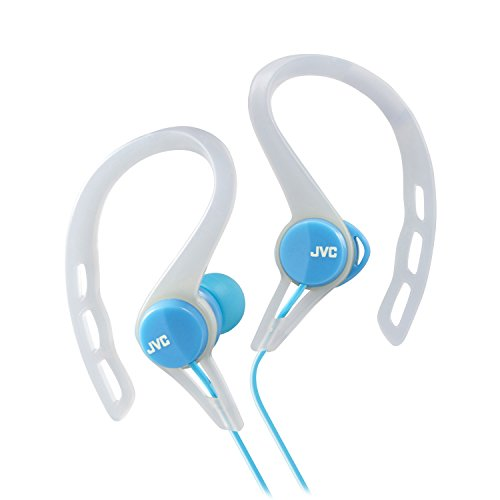 (JVC HAECX20A Sports Clip Inner Ear Headphones, Blue )