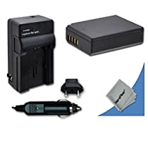 High Capacity Replacement Canon LP-E12 Battery with AC/DC Quick Charger Kit for Canon EOS M, EOS Rebel SL1, EOS 100D DSLR Cameras