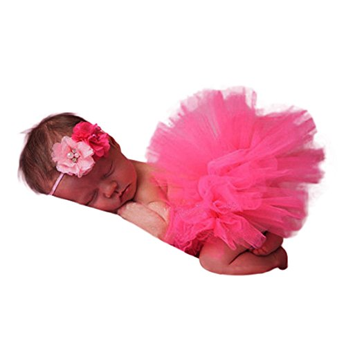 vestitiy Clearance! Newborn Girl Tutu Skirt Dress and Headband Party Photography Photo Props Costume Outfits -