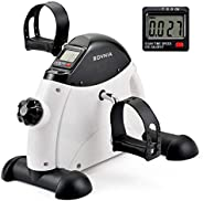 Mini Exercise Bike Pedal Exerciser with LCD Monitor for Leg and Arm Recovery, Portable Under Desk Bike Mini Cy