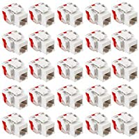 ICC - IC107L6CWH - 25PK Cat6 Jack - White