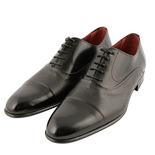 Exclusif Paris Exclusif Paris City, Chaussures homme Chaussures de ville - Zapatos de Cordones de cuero Hombre negro