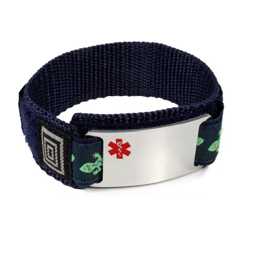 Taking Eliquis Medical Id Alert Bracelet With Lizard Velcro Wrist Band