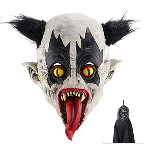 Scary Halloween Animated Mask Evil Variant Zombie Moster Devil Mask with 1 pcs Halloween Party Hanging Props]()