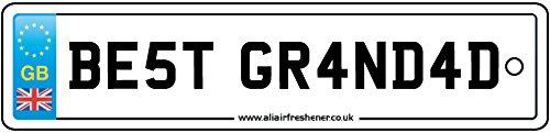 Best Grandad Number Plate Car Air Freshener (Xmas Christmas Stocking Filler/Secret Santa Gift) AAF