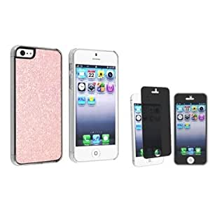 Cerhinu Everydaysource FREE Privacy LCD Screen Film and Light Pink Bling Rear Clip-on Case Compatible With Apple? iPhone...