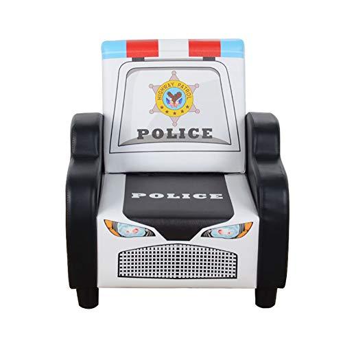 Pedal Car Retro Police - ENCOUNTER-G Creative Police Car Children's Sofa/Boy Chair/Cartoon Children's Wooden Chair/Mini Single Seat Sofa Children's Dining Chair/Cute Lazy Sofa/Nursery Small Sofa